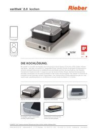varithek® 2.0 kochen DIE KOCHLÖSUNG. - Rieber GmbH & Co. KG