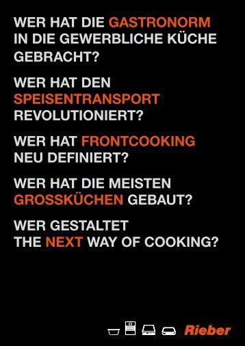 wer hat die gastronorm in die gewerbliche küche gebracht? - Rieber