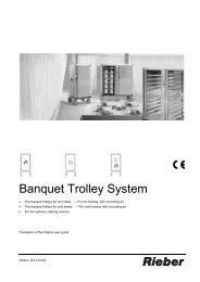 Banquet Trolley System - Rieber