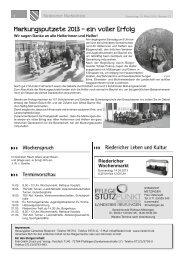 Markungsputzete 2013 - ein voller Erfolg - Riederich