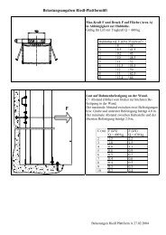 Belastungsangaben Riedl-Plattformlift