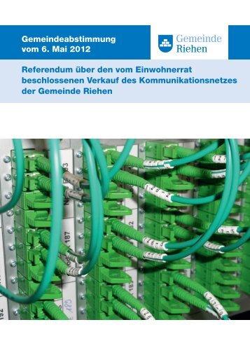 Referendum über den vom Einwohnerrat beschlossenen ... - Riehen