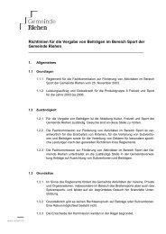 Richtlinien Beiträge Sport - Riehen