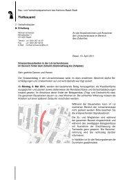 Lörracherstrasse Baustelleninfo TBA - Riehen