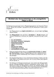Merkblatt über Gemeindebeiträge an die Pflege zu Hause - Riehen