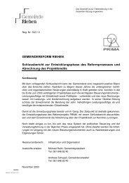 Q. Schlussbericht des Gemeinderats zur ... - Riehen