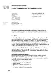 Standorte Kindergärten Planungsstand 2011 - Riehen