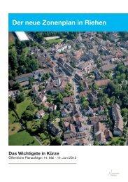 Flyer Zonenplanrevision - Riehen