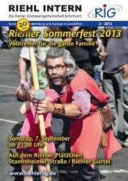 2 - 2013 - Riehler Interessengemeinschaft eV
