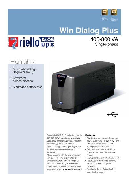 Win Dialog Plus - Riello UPS