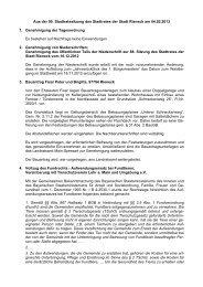 Aus der 90. Stadtratssitzung des Stadtrates der Stadt Rieneck am ...