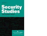 Security Studies - Lynne Rienner Publishers