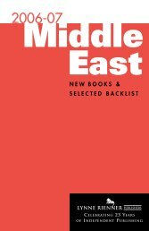 Middle East - Lynne Rienner Publishers