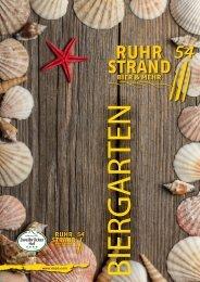 und Getränkekarte Ruhrstrand 54
