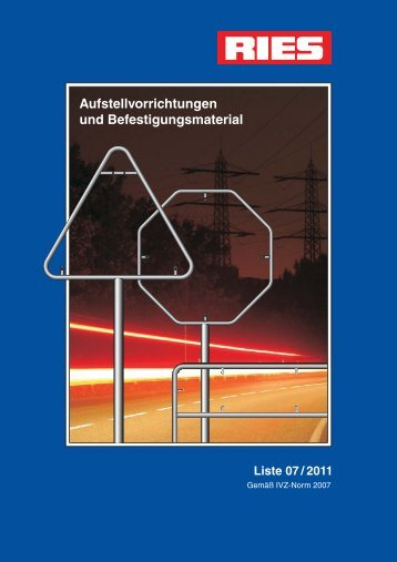 Aufstellvorrichtungen und Befestigungsmaterial - Kurt Ries GmbH