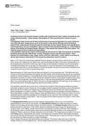 Press release Yaks, Yetis, Yogis – Tibet in ... - Museum Rietberg