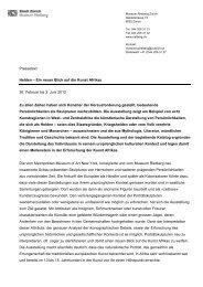 Pressetext Helden – Ein neuer Blick auf die ... - Museum Rietberg