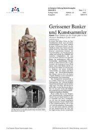 Gerissener Banker und Kunstsammler - Museum Rietberg
