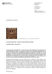 COMMUNIQUÉ DE PRESSE Le Paradis du ... - Museum Rietberg