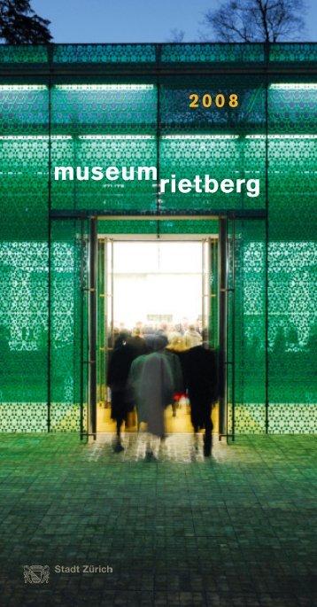 Jahresprogramm 2008 - Museum Rietberg
