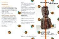 WoRKSHopS Für JUGENDLICHE, KINDEr UND ... - Museum Rietberg