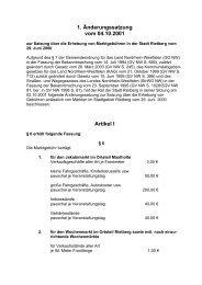 1. Änderungssatzung zur Satzung über die ... - Stadt Rietberg