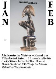 Januar/Februar - Museum Rietberg