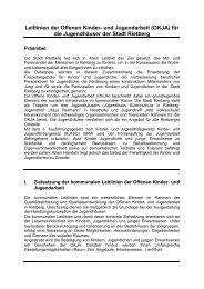Leitlinien der Offenen Kinder- und Jugendarbeit ... - Stadt Rietberg