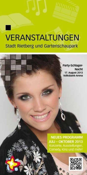 Veranstaltungen Juli bis Oktober 2013 (Flyer) - Stadt Rietberg