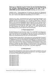 Satzung zur Abänderung der Fristen bei der ... - Stadt Rietberg