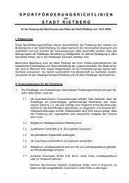 Sportförderungsrichtlinien - Stadt Rietberg