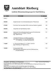 Ausgabe 16/2003 - Stadt Rietberg