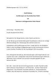 (Redetext gesperrt bis 7.11.13, 18 Uhr) Stadt Rietberg ...