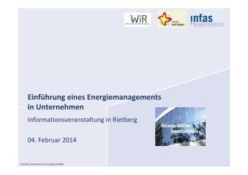 Einfühurng eines Energiemanagements - Stadt Rietberg