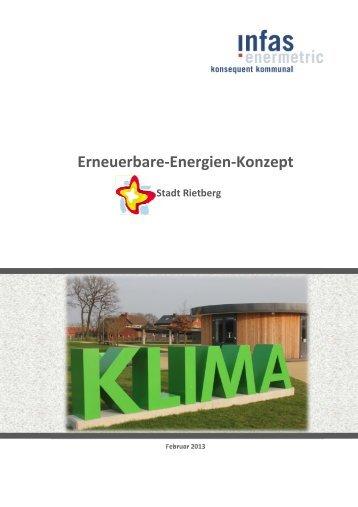 Erneuerbare Energien Konzept Stadt Rietberg (7,5 MB)