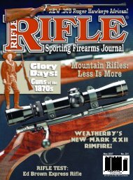 May/June 2007 Rifle Issue 231 Partial - Wolfe Publishing Company