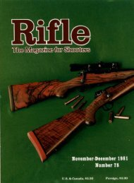 The Magazine for Shooters - Wolfe Publishing Company