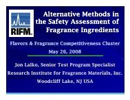 Alternative Methods in the Safety Assessment of Fragrance Ingredients