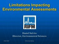mitations Impacting Environmental Assessments
