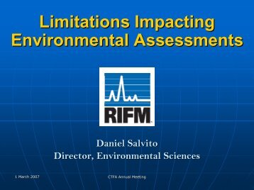 mitations Impacting Environmental Assessments