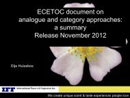 ECETOC document on analogue and category approaches: a ...