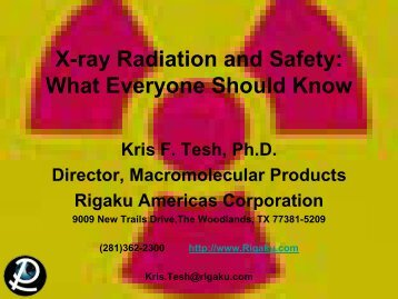X-ray Radiation and Safety: What Everyone Should Know - Rigaku