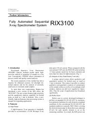 Fully Automated Sequential X-ray Spectrometer System ... - Rigaku