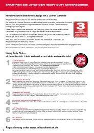 Registrierung unter www.milwaukeetool.de - Becher ...