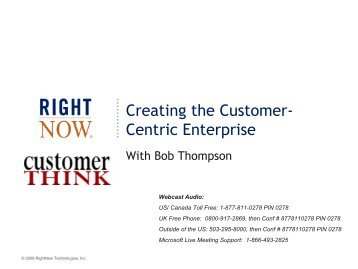 rightnow technologies case Rightnow says time is right for an rightnow technologies inc is the latest high-tech company aiming to join rightnow focuses on the customer service.