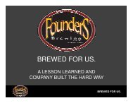 BREWED FOR US. - The Right Place