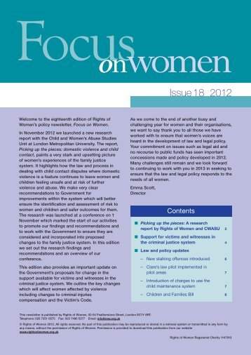 Focus on Women - issue 18 - Rights of Women