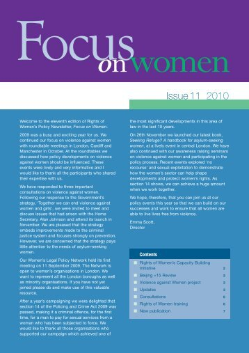 Focus on Women - issue 11 - Rights of Women