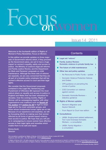 Focus on Women - issue 14 - Rights of Women