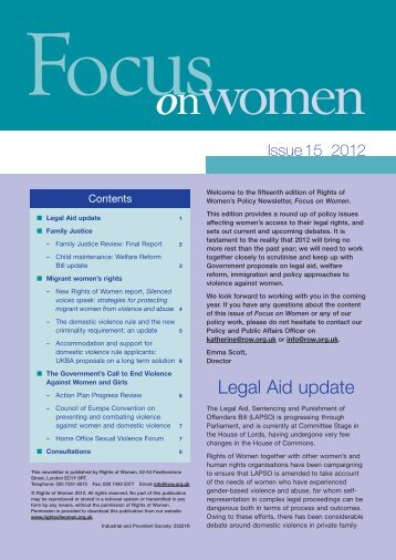 Focus on Women - issue 15 - Rights of Women